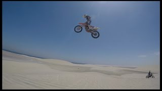 Freeride motocross MX Big Air dune jumps on dirt bikes 2016