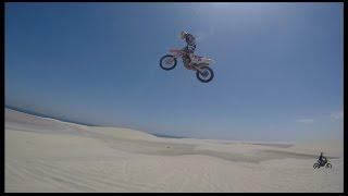 Freeride motocross MX Big Air dune jumps on dirt bikes 2016