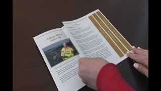 Folding a 4 Page Graduated Fold Funeral Program -- Elegant Memorials