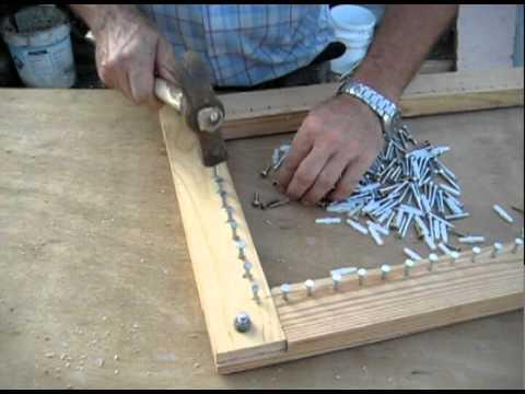Como clavar clavos bastidor de madera 3 youtube - Como hacer escaleras de madera ...