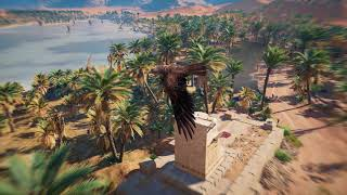 Assassin's Creed Origins - Eagle flight and hunting - PC Ultra settings 1440p