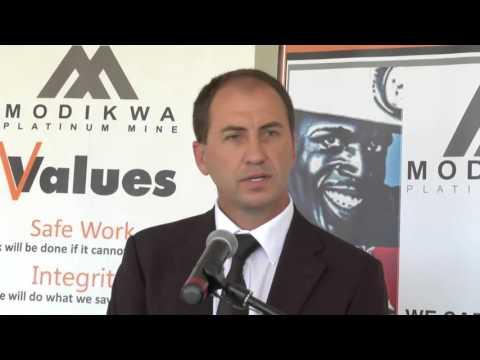Modikwa Mine Handing Over Project