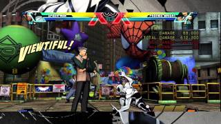 UMvC3 Spiderman Kara Sting Combo Comparison