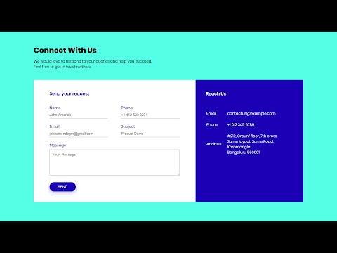 How To Make A Contact Us Page Using HTML And CSS In 10 Minutes