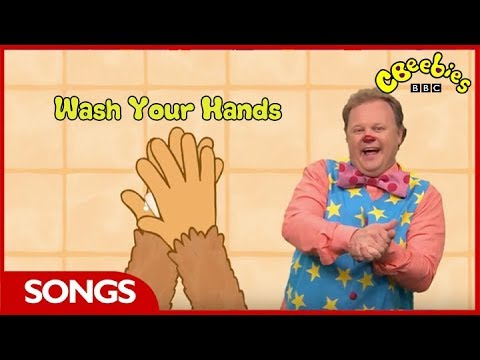 CBeebies Songs | Something Special | Mr Tumble's Song Time Wash Your Hands