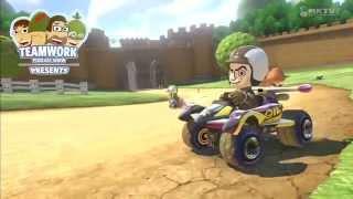 Teamwork Playing Mario Kart 8 - Mr. Bean is Winning. He
