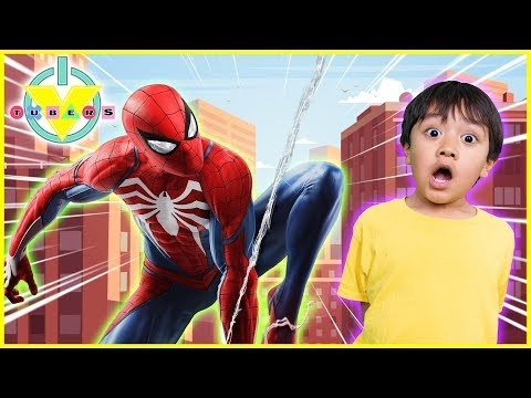 brand-new-marvel's-spider-man-let's-play-with-ryan-&-daddy