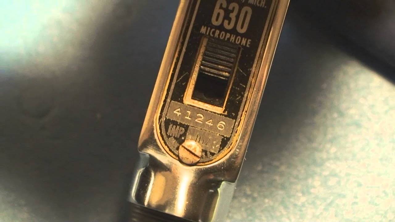 electrovoice vintage 630 microphone and cable repair