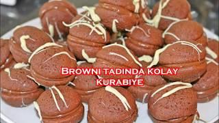 Browni tadında çok kolay kurabiye (elde yoğurulmadan pratik yöntemle)