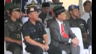 Upacara HUT Brimob Ke-68 di Satbrimob Polda Banten
