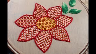 Hand Embroidery Designs | Lattice work | Stitch and Flower-161