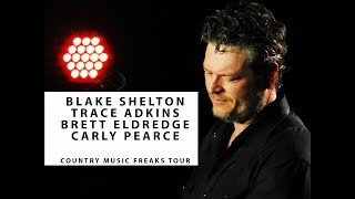 Blake Shelton LIVE ON TOUR with Trace Adkins Q&A, Brett Eldredge, and Carly Pearce