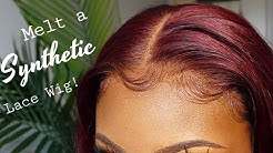 """HOW TO MELT A SYNTHETIC LACEFRONT WIG FT. IT'S A WIG """"DARA"""" 