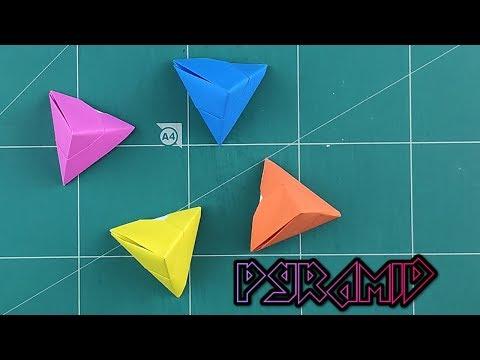 How to Make A Paper Pyramid - Origami Pyramid Instruction Tutorials | DIY Paper Triangular Pyramid