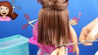 Bebeğimin Saçını Kestim Eyvah Çok Kısa Oldu! Oyuncak Bebeğimin Saçı Nasıl Uzayacak? Bidünya Oyuncak