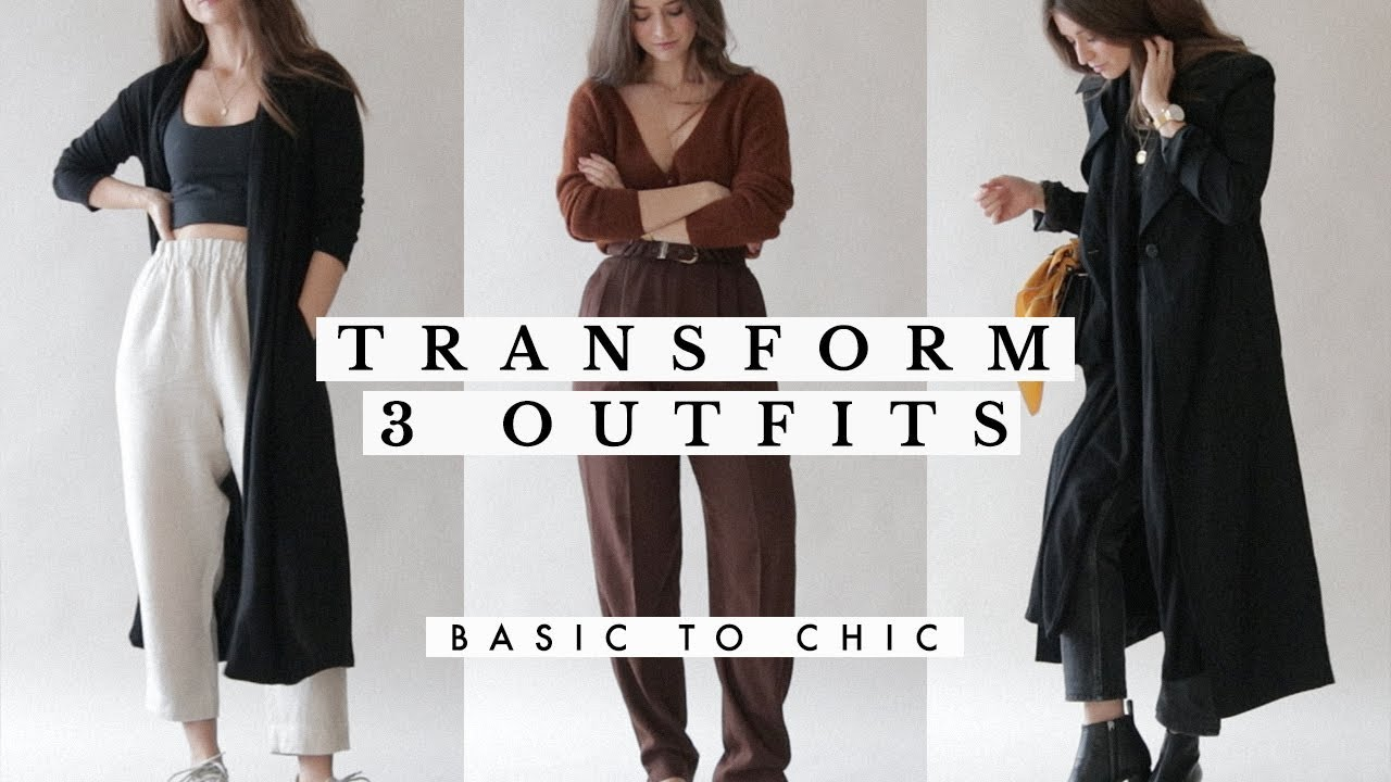 [VIDEO] – How to Transform Outfits for Fall – Basic to Chic   Dearly Bethany