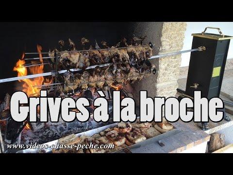 Grives à La Broche / Brochette De Grives - Recette Grive