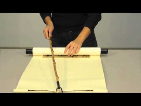 Safe Handling Practices For Chinese Hanging Scrolls Youtube
