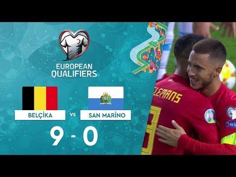 Belçika 9-0 San Marino |  EURO 2020 Elemeleri Maç Özeti - I Grubu