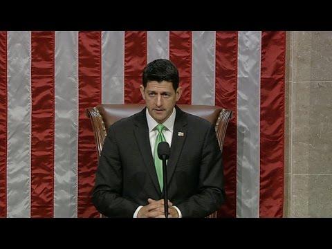 Democrats shout down Speaker Paul Ryan