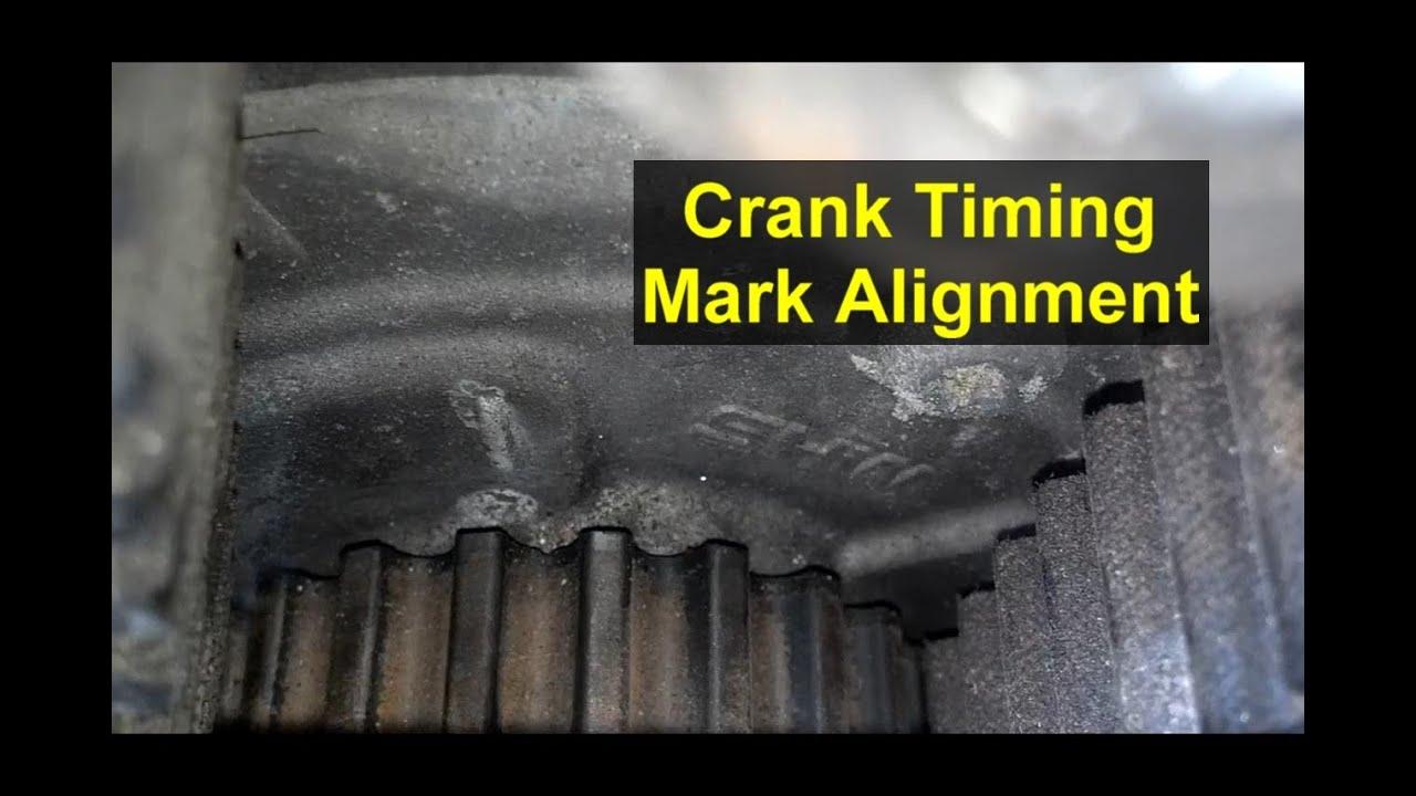 medium resolution of timing mark crank sprocket location volvo 850 s70 v70 xc70 votd