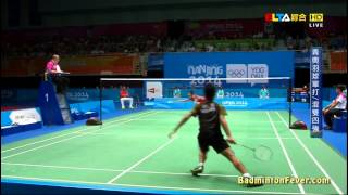 Badminton Highlights   Lin Gui Pu Vs Ginting Anthony   2014 Nanjing Youth Olympics SF MS