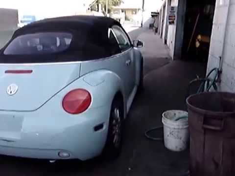 04 VW Beetle Convertible for PARTS ONLY! Runs