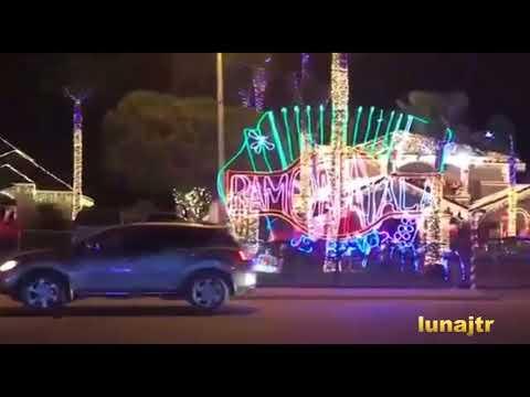 Casa de Ramón Ayala en navidad Hidalgo Texas
