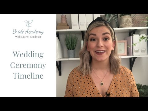 Wedding Ceremony Timeline (ORDER OF EVENTS AT YOUR CIVIL CEREMONY)