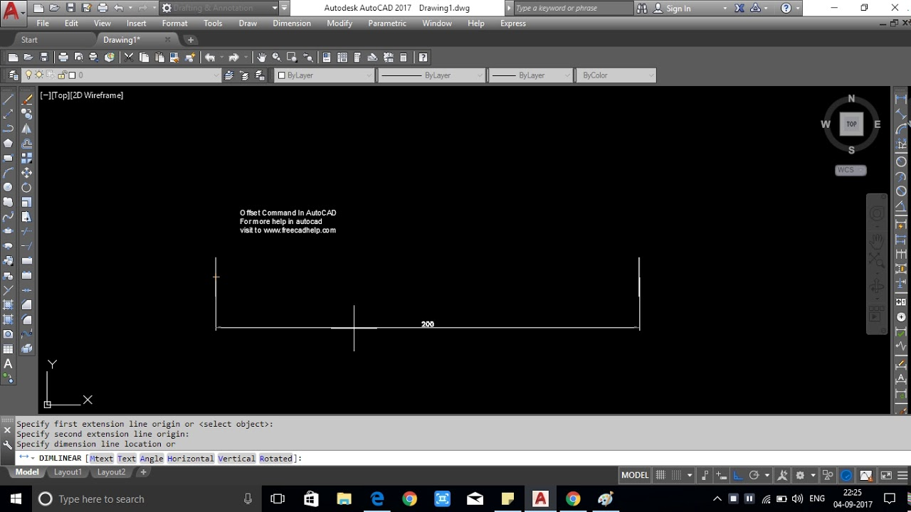 explain how to use offset command in autocad