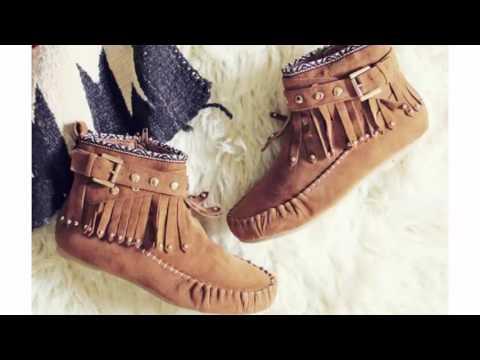 6001f67f8  احذية شتاء 2017 - احذية شتوية انيقة للبنات - Girls boots / Shoes for winter  - YouTube