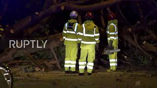 Portugal: Hurricane Leslie hits Lisbon leaving 15,000 homes without power