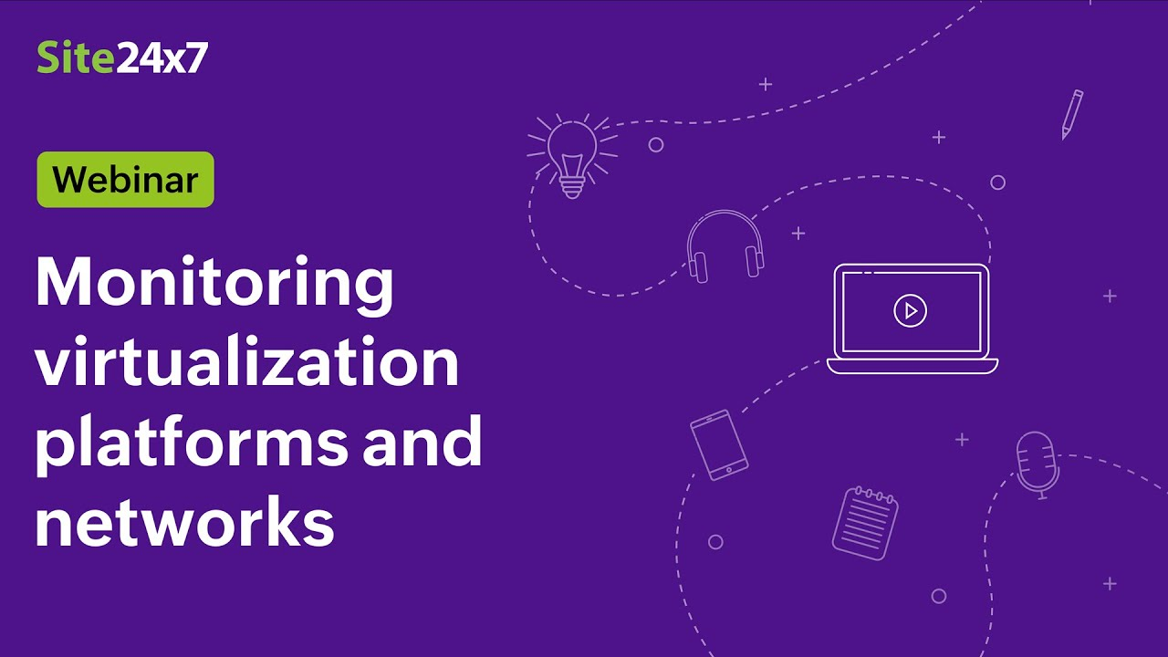 Monitoring virtualization platforms and networks