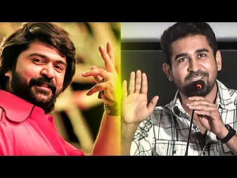 Vijay Antony uses STR's AAA Mass Dialogue | Annadurai Audio Launch | TN 350