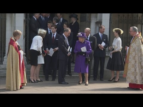 Royal family attend service of thanksgiving for Lord Snowdon