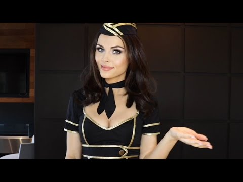 ASMR SOFT SPOKEN FLIGHT ATTENDANT (4K HD)