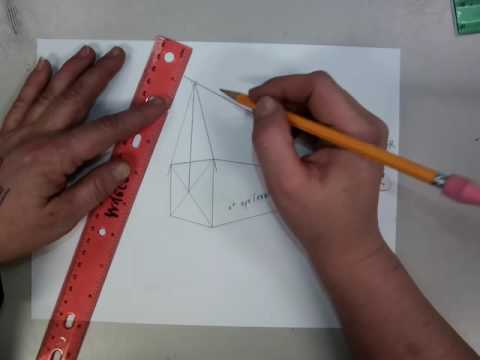 Creating A Pitched Roof In 2 Point Perspective
