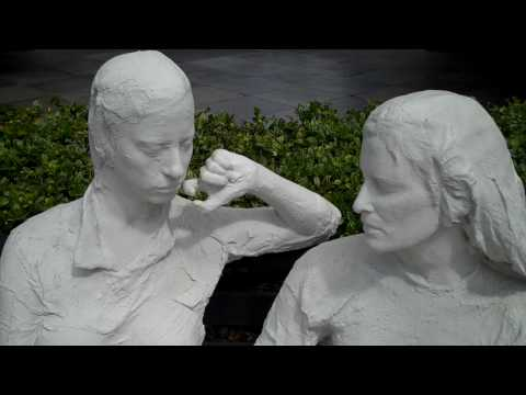 Outdoor Real Life Statues, Stanford University, Palo Alto, California USA.MP4
