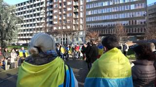 Митинг украинцев- Милан