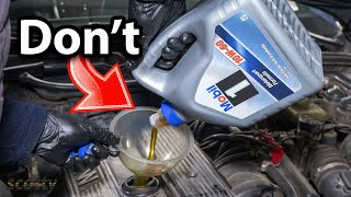 Stop Using This Type of Engine Oil Right Now