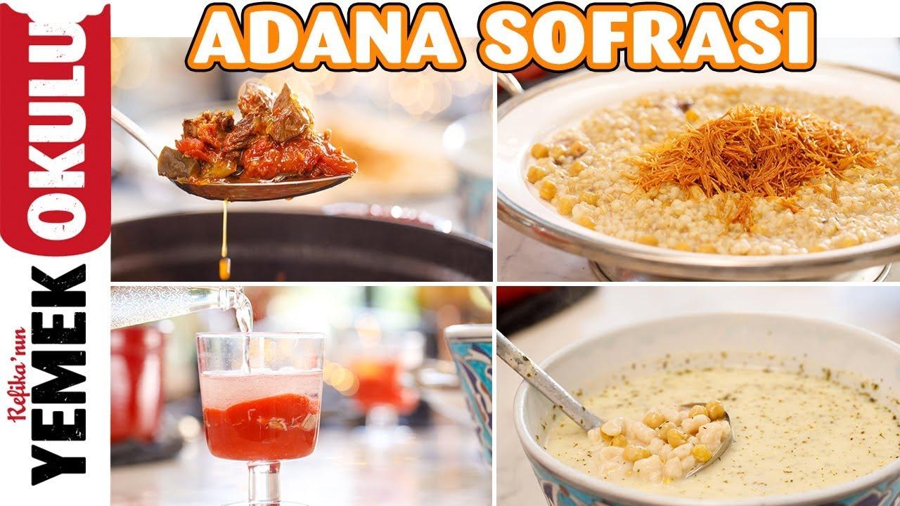 Adana Sofrası | Yayla Çorbası, Patlıcanlı Güveç, Dövme Pilavı ve Tatlı Tarifi