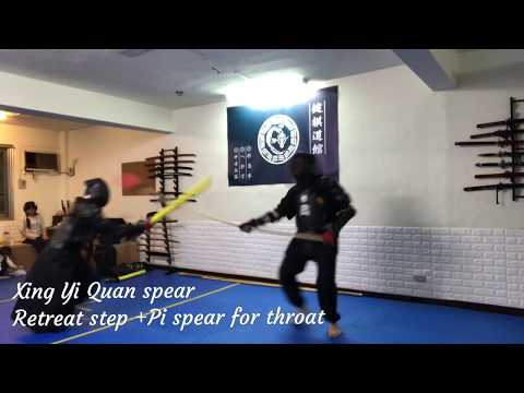 Japan Katana vs China Spear  Sparring  highlight  Jian Che Martial Art School