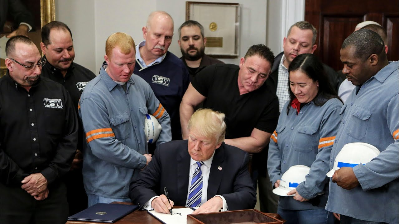 Trump kills off steelworker's father during chaotic tariffs announcement