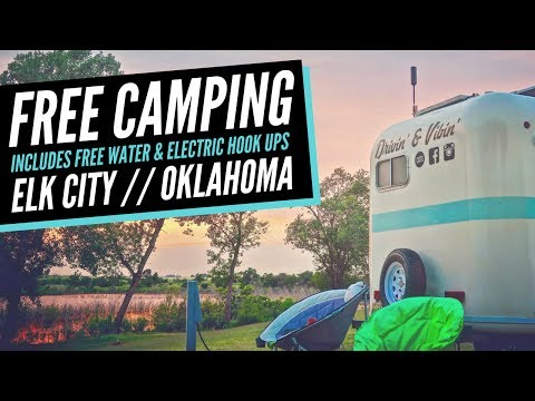 Free Camping in Oklahoma (with Electric & Water) 🚐💨 Boondocking Lake Elk City 💯 Full Time RV Life