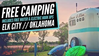 Free Camping in Okląhoma (with Electric & Water) 🚐💨 Boondocking Lake Elk City 💯 Full Time RV Life