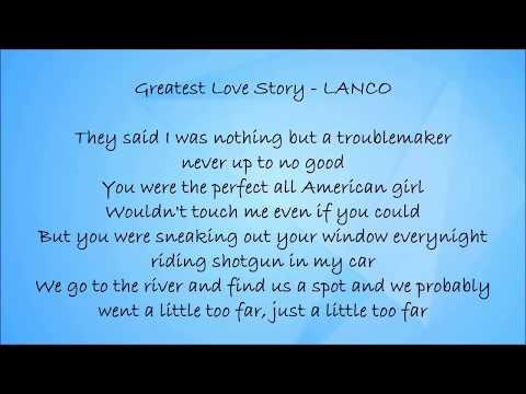 Greatest Love Story - LANCO Lyrics
