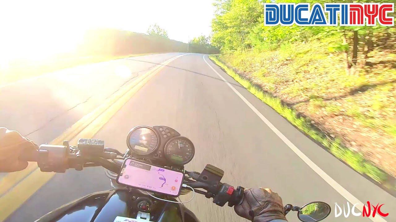 BBQ bound on fresh NEW twisties | Catskill TT Stage 5 | Perfect Evening Ride | Ducati NYC Vlog v1323