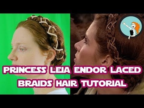 Princess Leia Endor Laced Braids | Star Wars Hair Tutorial | 25 Days Till The Last Jedi!