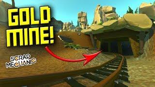 ABANDONED GOLD MINE EXPLORATION! [Best Tile Ever?] - Scrap Mechanic Gameplay