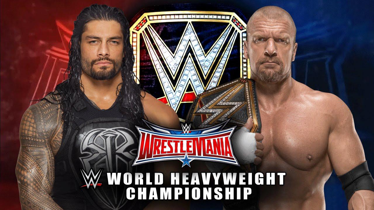 Download Wrestlemania 32 - Roman Reigns vs Triple H - WWE World Heavyweight Championship Match